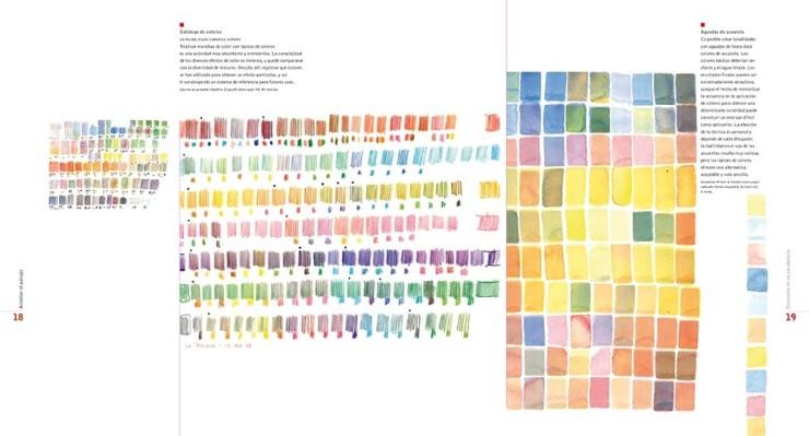 Edward Hutchison el dibujo en el proyecto del paisaje paletas de colores