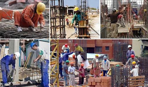 Fotomontaje para el día del obrero de la construcción - Revista vivienda