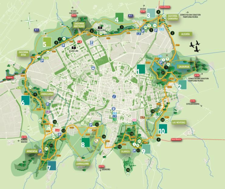 Plano Anillo Verde, Vitoria-Gasteiz, ayuntamiento Vitoria-Gasteiz